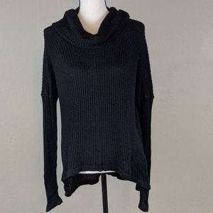 Lucky brand cowl neck long sweater sized xl women